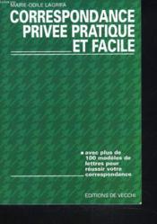 Correspondance Privee Pratique Facile - Couverture - Format classique