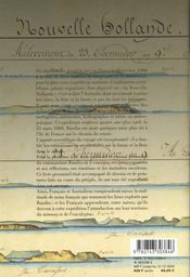Mon Voyage Aux Terres Australes ; Journal Personnel Du Commandant Baudin - 4ème de couverture - Format classique