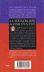 La yougoslavie etat provisoire - 4ème de couverture - Format classique