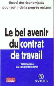 Le Bel Avenir Du Contrat De Travail - Intérieur - Format classique