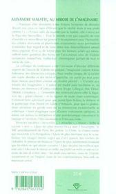 Alexandre Vialatte, Au Miroir De L'Imaginaire - 4ème de couverture - Format classique