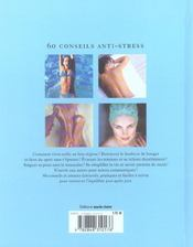 60 Conseils Anti Stress - 4ème de couverture - Format classique