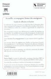 Accueillir, Accompagner, Former Des Enseignants - 4ème de couverture - Format classique