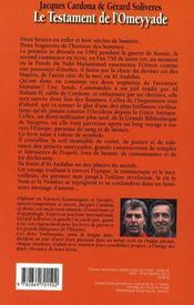 Le Testament De L'Omeyyade - 4ème de couverture - Format classique