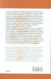Le sacré au cinéma ; divinité et mystère sur grand écran - 4ème de couverture - Format classique