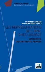 Les représentations de l'oral chez Lagarce - Couverture - Format classique