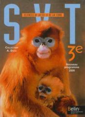 SVT ; 3ème ; manuel de l'élève - Couverture - Format classique