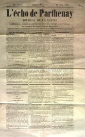 Echo De Parthenay (L') N°26 du 30/06/1867 - Couverture - Format classique