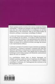 Communication et langage t.171, les observatoires et l'observation - 4ème de couverture - Format classique