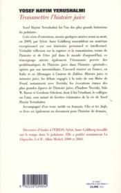 Transmettre l'histoire juive ; entretiens avec Sylvie Anne Goldberg - Couverture - Format classique