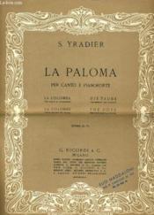 La Paloma Per Cabto E Pianoforte - Couverture - Format classique