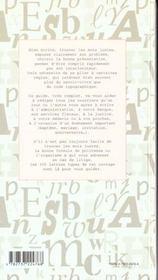 Guide de la correspondance - 4ème de couverture - Format classique