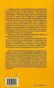 Connaissance Des Institutions Publiques ; Reperes A L'Usage Des Acteurs Sociaux - 4ème de couverture - Format classique