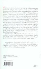 L'Origine Du Monde ; Histoire D'Un Tableau De Gustave Courbet - 4ème de couverture - Format classique