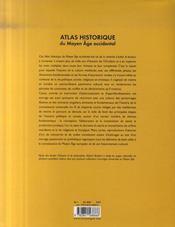 Atlas historique du moyen age occidental - 4ème de couverture - Format classique