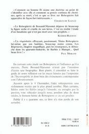 Robespierre - 4ème de couverture - Format classique