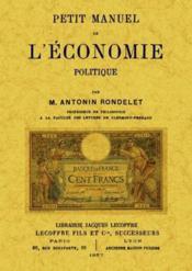 Petit manuel de l'économie politique - Couverture - Format classique