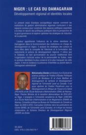 Niger : le cas du Damagaram ; développement régional et identités locales - 4ème de couverture - Format classique