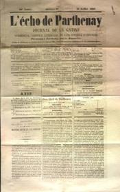 Echo De Parthenay (L') N°29 du 21/07/1867 - Couverture - Format classique