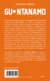 Guantanamo - 4ème de couverture - Format classique