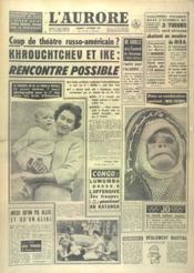Aurore (L') N°4979 du 09/09/1960 - Couverture - Format classique