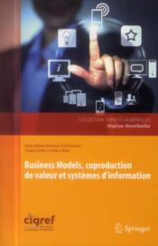 Vente  Business models ; coproduction de valeur et systèmes d'information  - Collectif