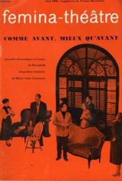 Femina-Theatre - Comme Avant, Mieux Qu'Avant. - Couverture - Format classique