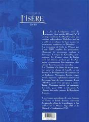 L'Histoire De L'Isere En Bd - Tome 04 - 4ème de couverture - Format classique