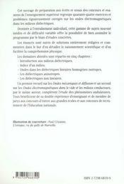 Ondes Electromagnetiques Dans Les Milieux Dielectriques 44 Exercices Et Problemes Corriges Ondes 3 - 4ème de couverture - Format classique