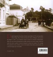 Il y a un siècle... l'automobile - 4ème de couverture - Format classique