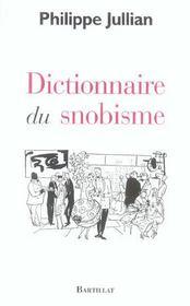 Dictionnaire Du Snobisme - Intérieur - Format classique