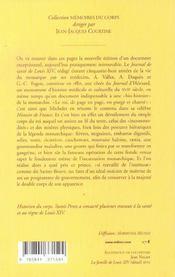 Journal De Sante De Louis Xiv (Le) - 4ème de couverture - Format classique