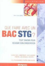 Que faire avec un bac stg ? (5e édition) - Intérieur - Format classique