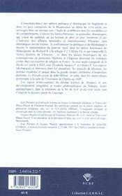 Formes Litteraires Du Theologico-Politique. De La Renaissance Au Debu T Du 18e Siecle En Angleterre - 4ème de couverture - Format classique