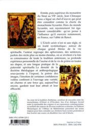 L'échelle sainte - 4ème de couverture - Format classique