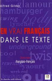 Dictionnaire De La Francisation - Intérieur - Format classique