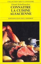 Connaitre La Cuisine Alsacienne - Intérieur - Format classique