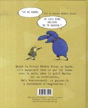 Marius bellus et la grosse bébête bleue - 4ème de couverture - Format classique