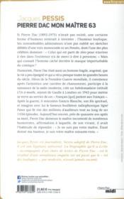 Pierre Dac ; mon maître 63 - 4ème de couverture - Format classique