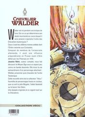 Chevalier Walder t.1 ; le prisonnier de dieu - 4ème de couverture - Format classique