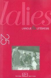 Revue Lalies N.25 - Intérieur - Format classique