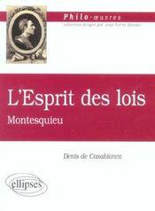 L'Esprit Des Lois Montesquieu - Intérieur - Format classique
