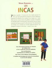 Vivre comme les Incas - 4ème de couverture - Format classique