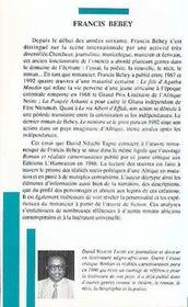 Francis Bebey - 4ème de couverture - Format classique