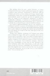 Phantasia, imagination, affectivité - 4ème de couverture - Format classique