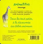 Animalitos A La Ferme - 4ème de couverture - Format classique