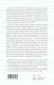 Correspondance Alexandre Vialatte - Henri Pourrat, 1916-1959. Tome Ii : Lettres De Rhenanie I, Fevr - 4ème de couverture - Format classique
