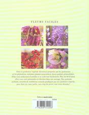 Fleurs faciles a bel effet - 4ème de couverture - Format classique