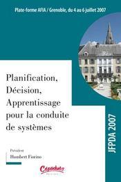 Planification, décision, apprentissage pour la conduite des systèmes - Intérieur - Format classique