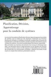 Planification, décision, apprentissage pour la conduite des systèmes - 4ème de couverture - Format classique